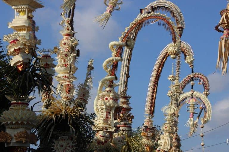 galungan cérémonie villages balinais