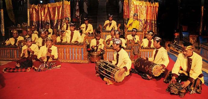 gamelan Bali joueurs