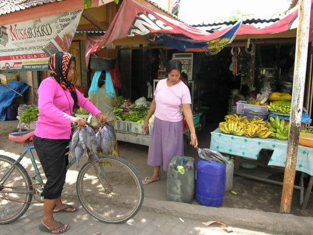 gili air ile lombok village marché