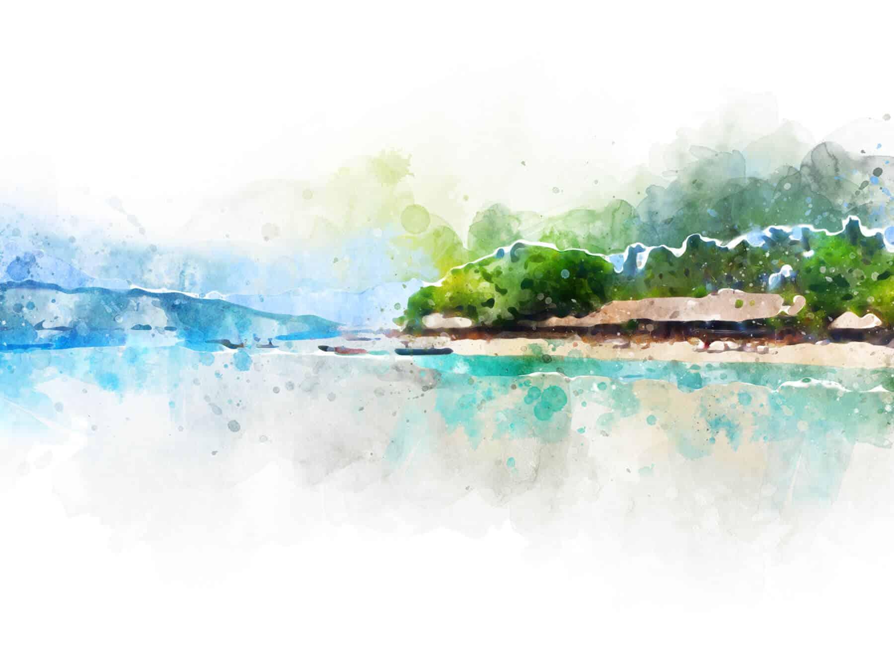 Gili Air peinture