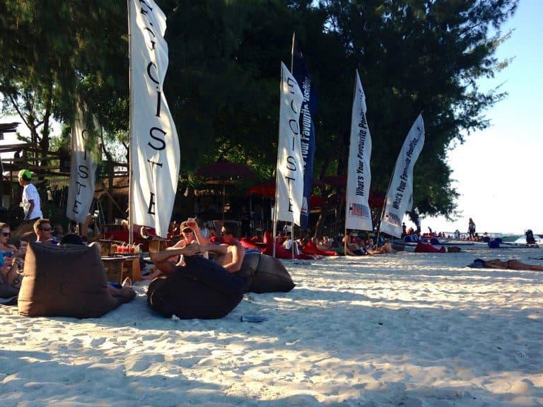 Gili Trawangan plage coucher de soleil iles Gili Indonésie Lombok