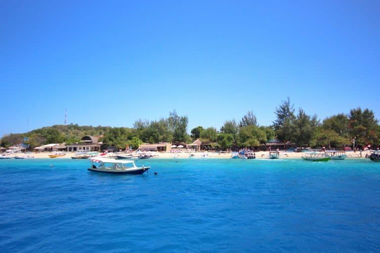 Gili Trawangan plage arrivée speed boat iles Gili Indonésie Lombok
