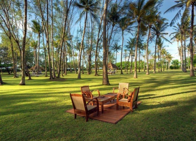 Gili Trawangan jardin vert hôtel iles Gili Indonésie
