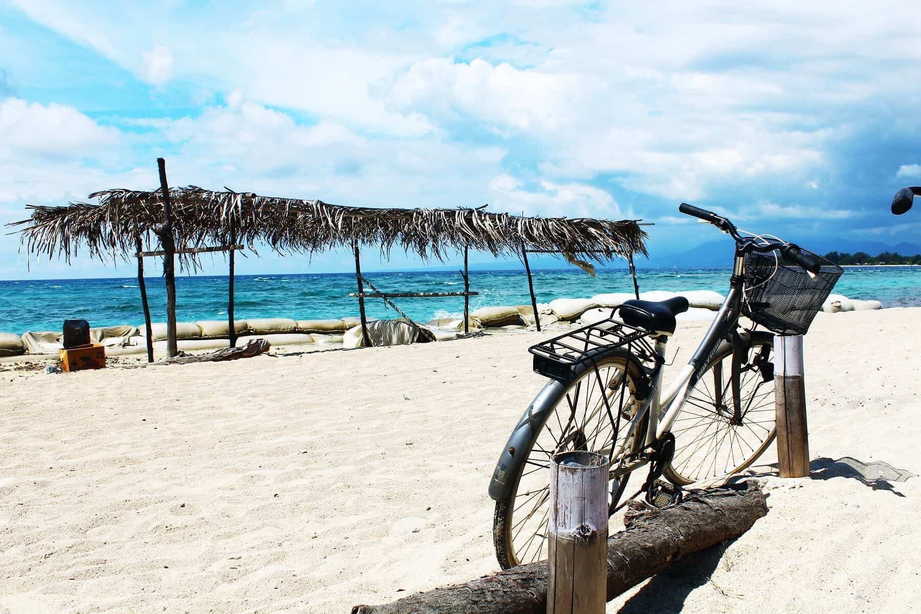 Gili Trawangan Lombok plage velo