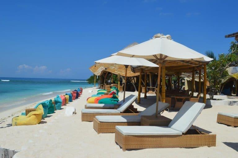 Gili Trawangan Pearl Beach Lounge iles Gili Indonésie Lombok