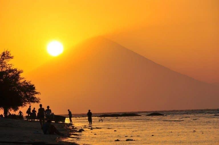volcan Agung Bali couché de soleil Gili Trawangan