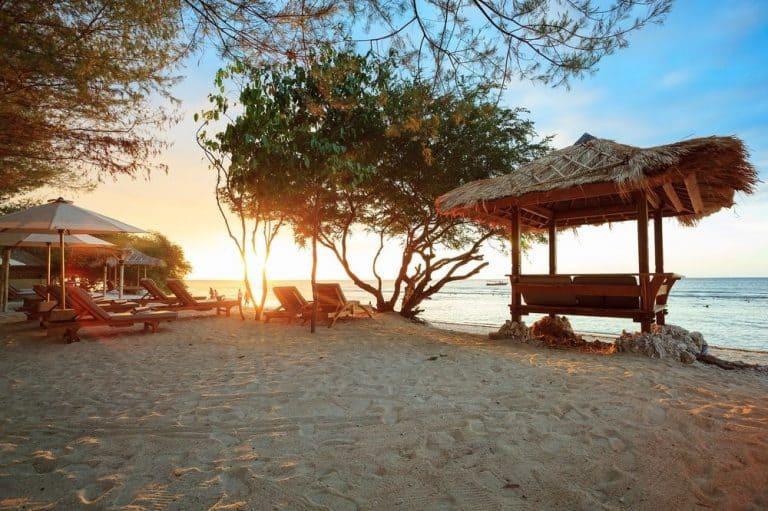 Gili Trawangan coucher de soleil plage voyage iles Gili Indonésie Lombok
