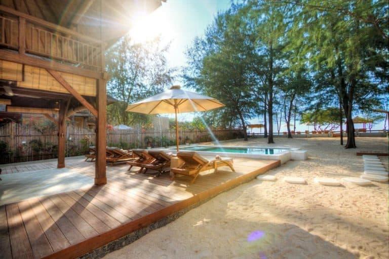 Gili Trawangan villa piscine plage voyage iles Gili Indonésie Lombok