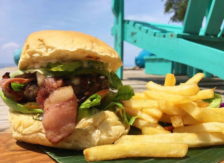 Gili Trawangan où manger burger restaurant iles Gili Indonésie Lombok