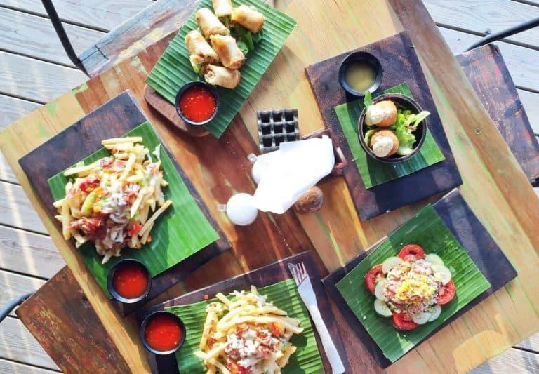 Gili Trawangan où manger fast food frites iles Gili Indonésie Lombok