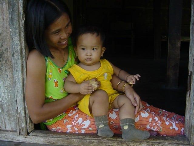habitants java famille ile indonesie