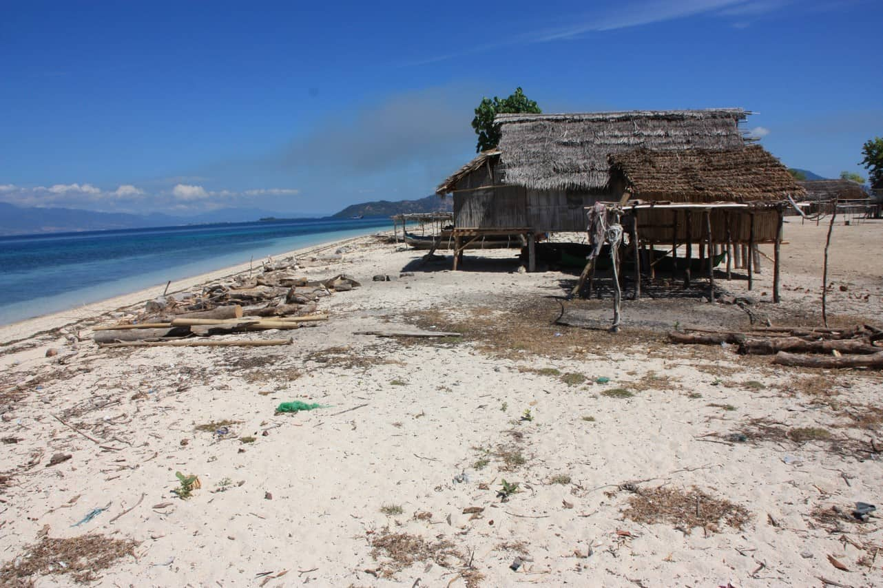 habitation traditionnelle lombok indonesie panorama