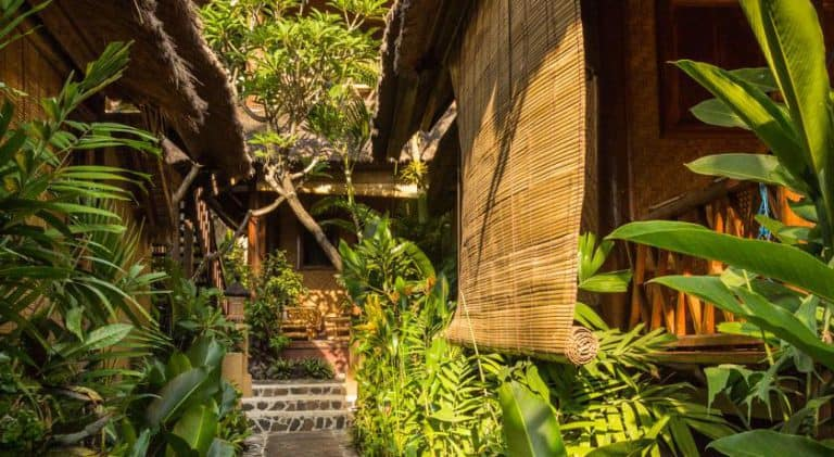 hotel bali amed bungalows jardin