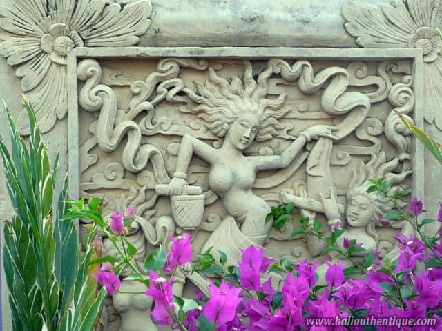 hotel bali amed fleurs jardin