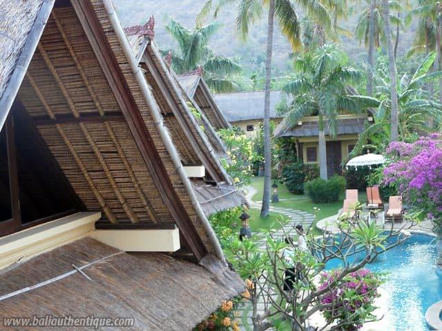 hotel bali amed vue piscine