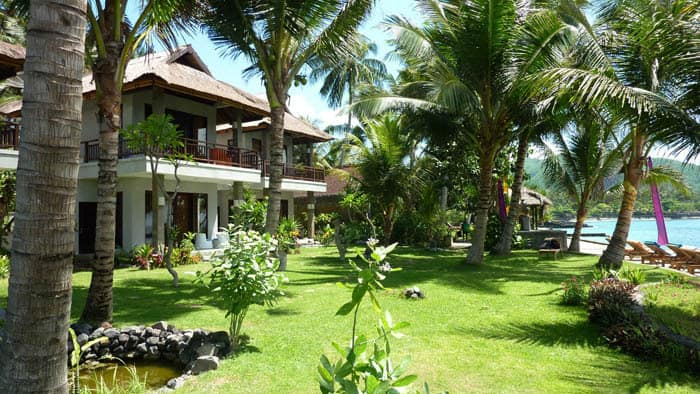hotel bali candidasa bungalows vue mer