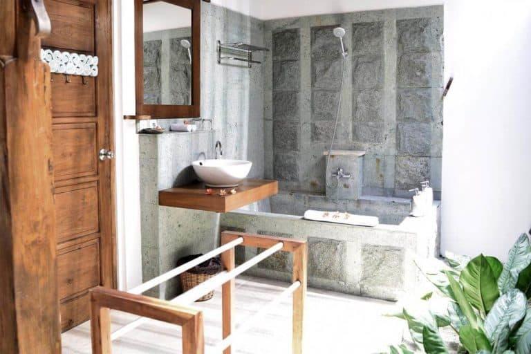 hotel bali candidasa charme romantisme salle de bains