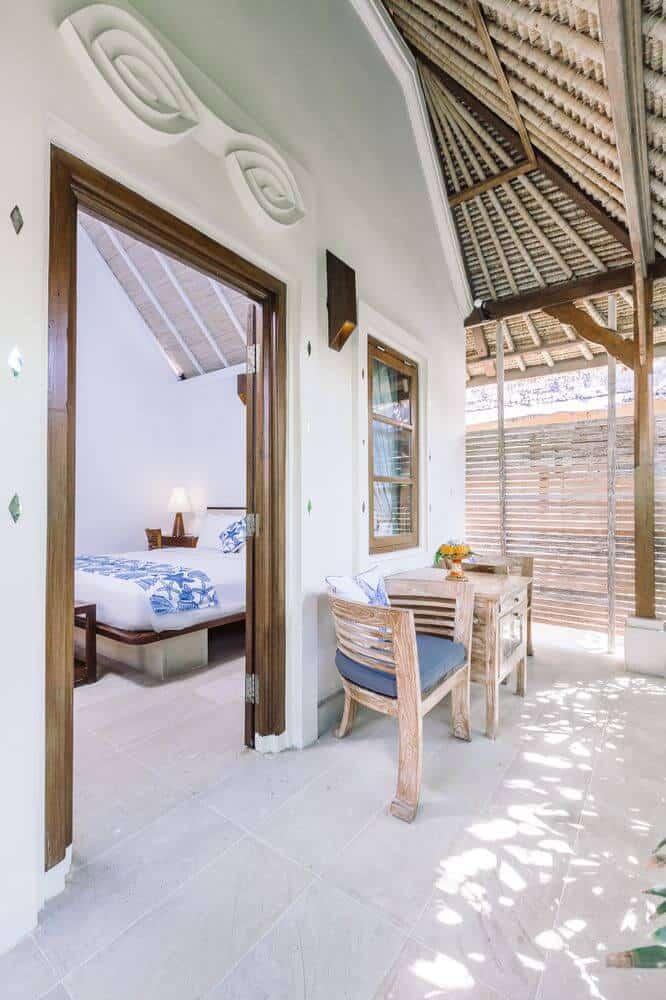 hotel bali candidasa charme romantisme terrasse