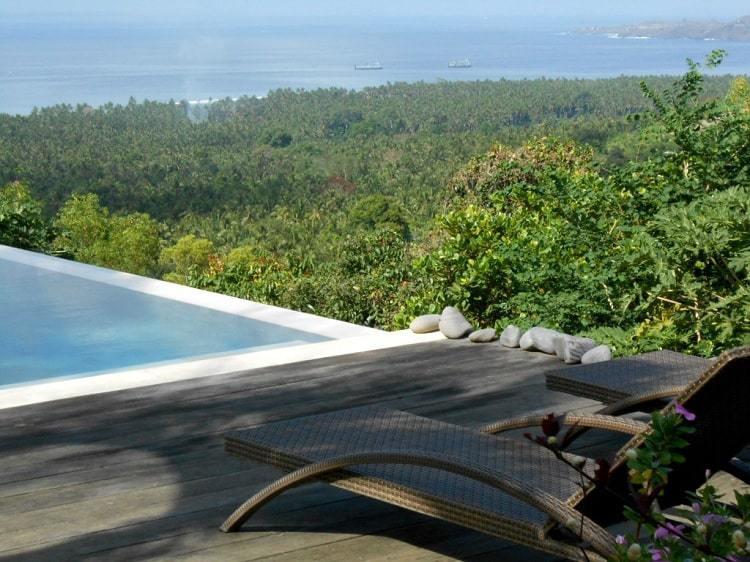 hotel bali candidasa vue mer et piscine