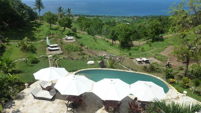 hotel bali Cempaga piscine vue panoramique