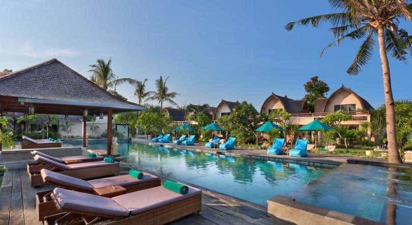 hotel bali gili trawangan piscine extérieure