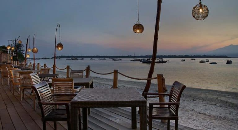 hotel bali gili trawangan restaurant vue mer