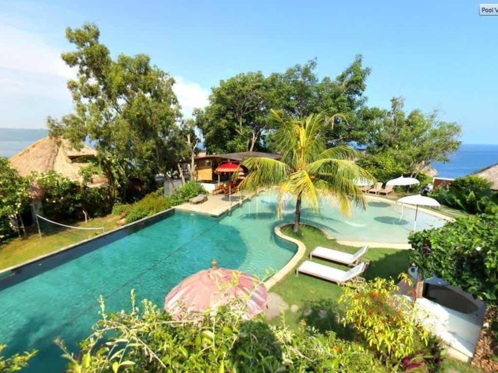 hotel bali karangasem piscine vue mer