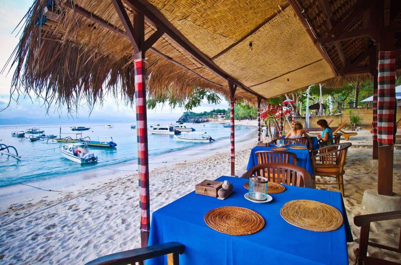 hotel Bali Lembongan vue mer