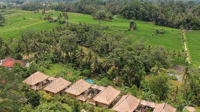 hotel Bali Mengwi vue du ciel