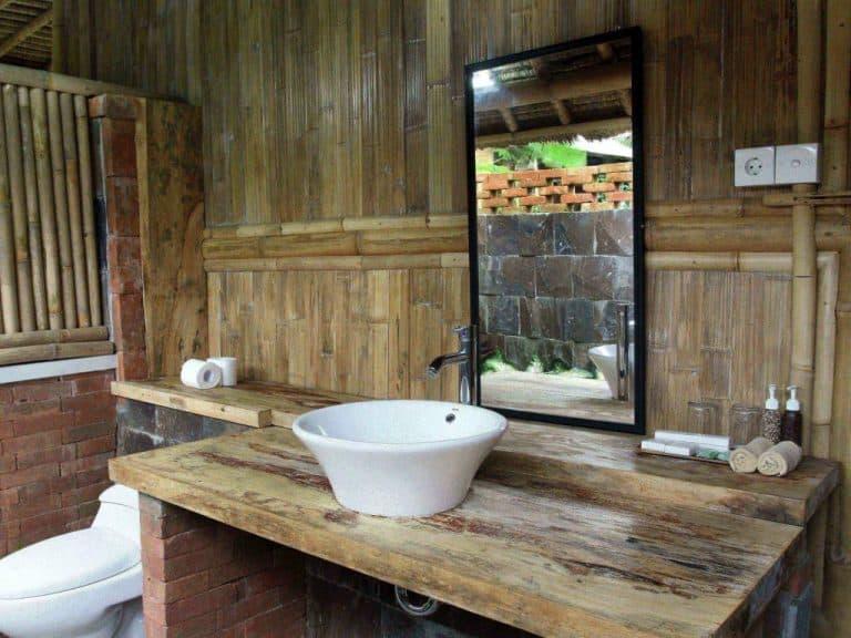 hotel Bali Mengwi bamboo salle de bains