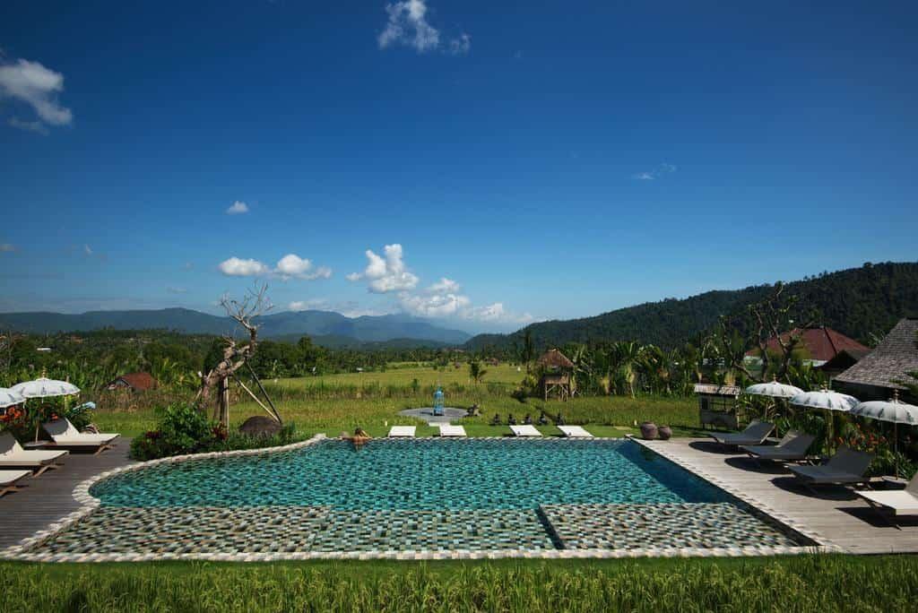 hotel Bali Munduk piscine