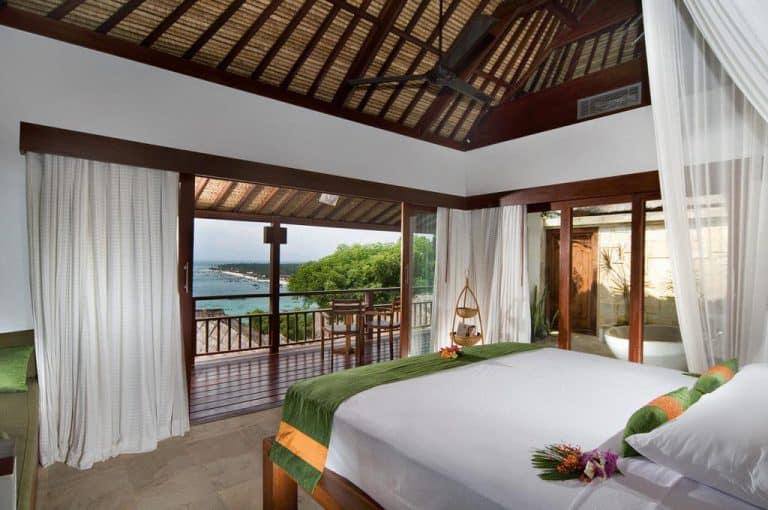 hotel bali nusa lembongan chambre vue mer