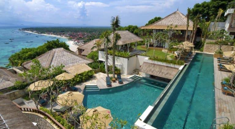 hotel bali nusa lembongan deux piscines