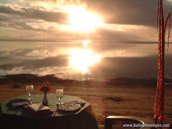 hotel bali sanur coucher de soleil
