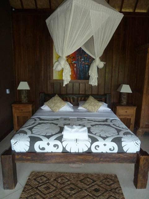 hotel bali sidemen lit à baldaquin