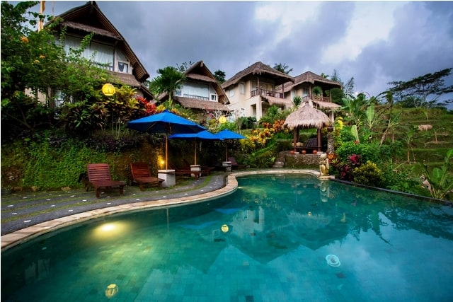 hotel bali sidemen piscine extérieur