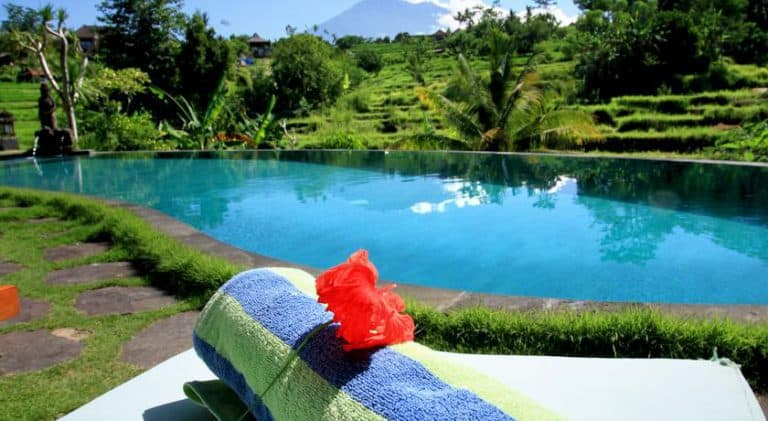 hotel bali sidemen piscine extérieure