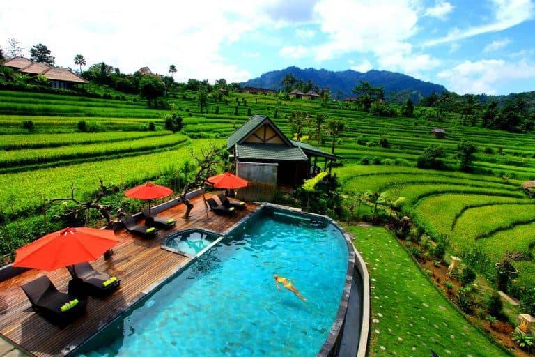 hotel bali sidemen piscine panorama