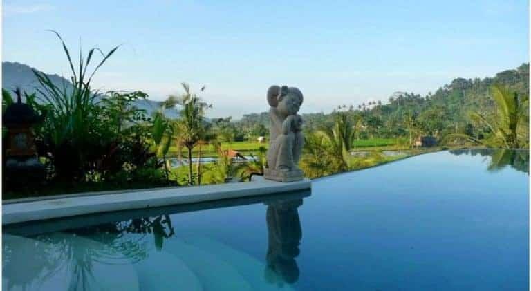 hotel bali sidemen piscine