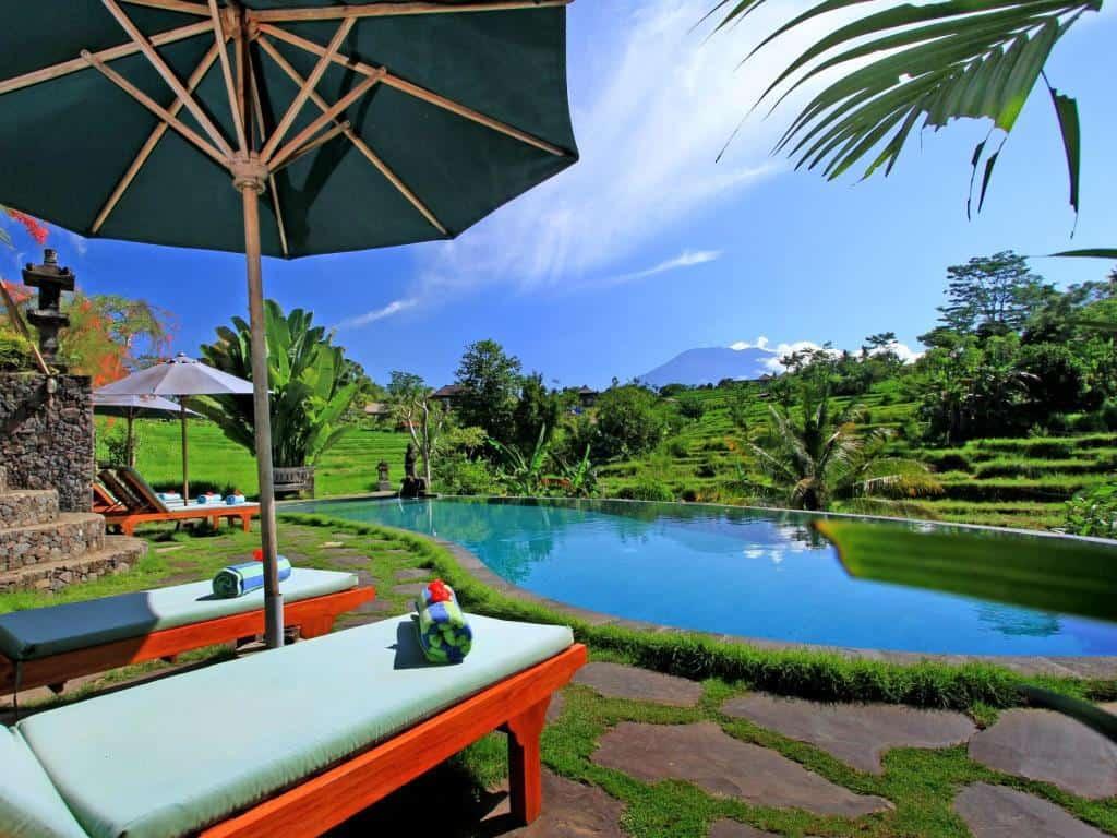 hotel Bali Sidemen piscine rizière