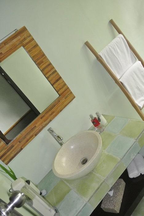 hotel bali sidemen salle de bain ouverte