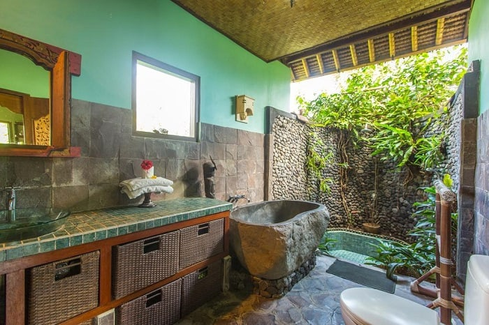 hotel bali sidemen salle de bain