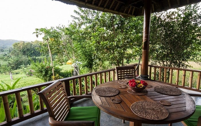 hotel bali sidemen terrasse extérieure