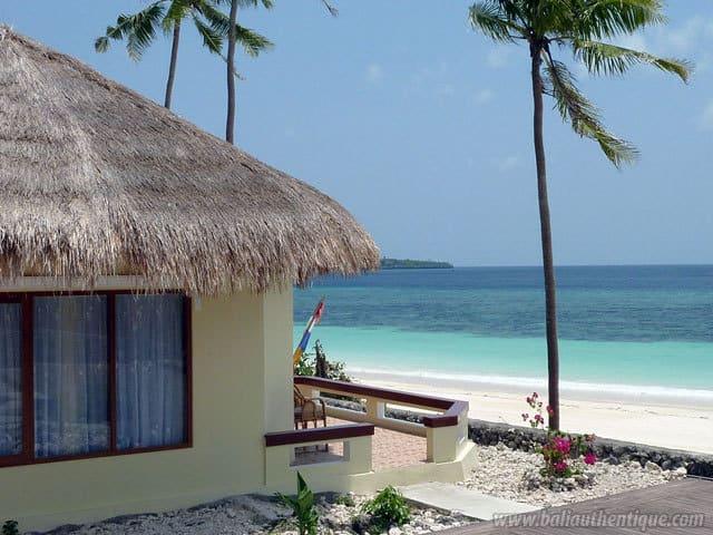 hotel bali sulawesi bungalows sur la plage