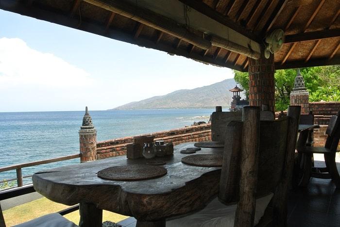 hotel bali tulamben Amed restaurant extérieur