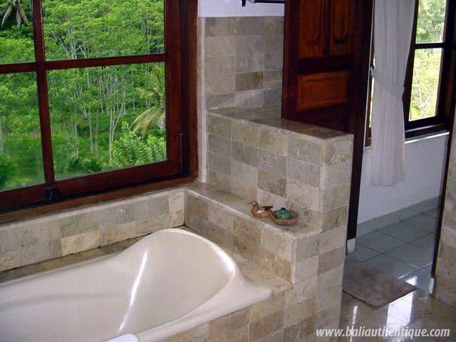 hotel bali ubud baignoire avec vue