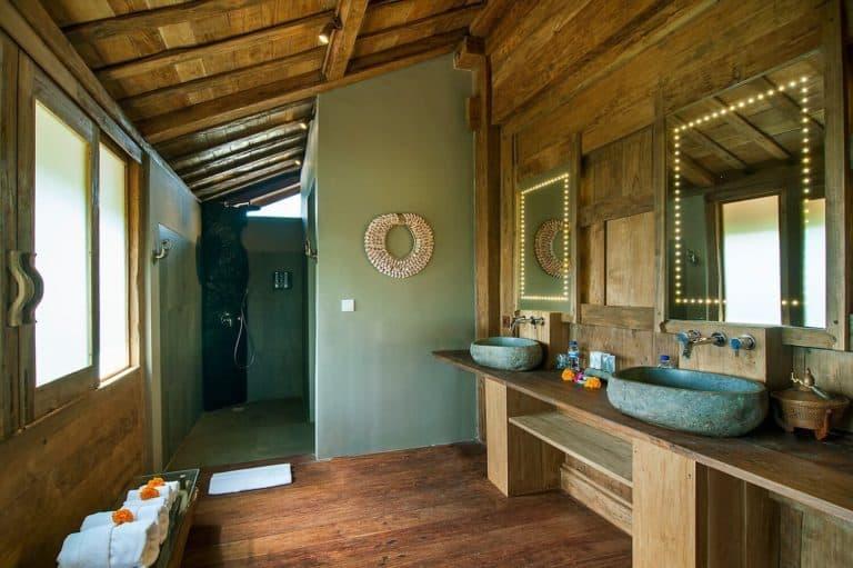 hotel bali ubud charme luxe salle de bains