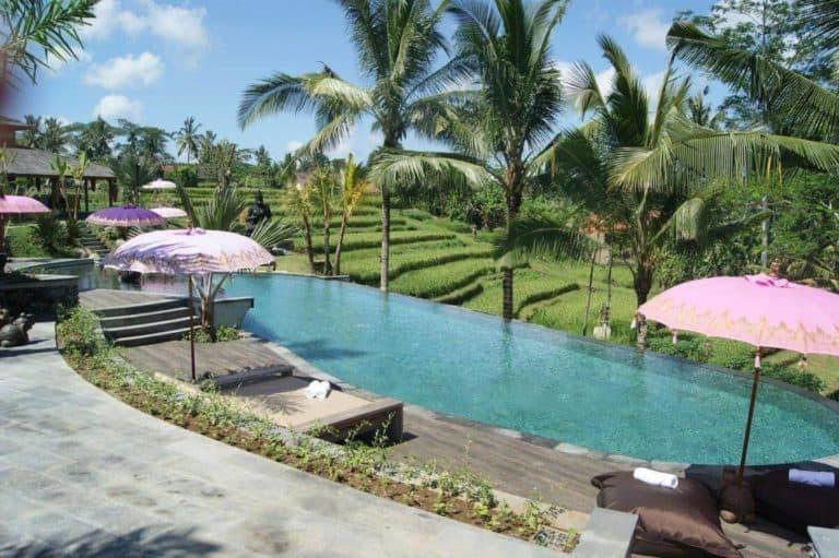hotel bali ubud charme piscine riziere