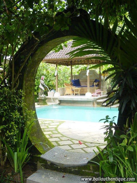 hotel bali ubud decoration piscine