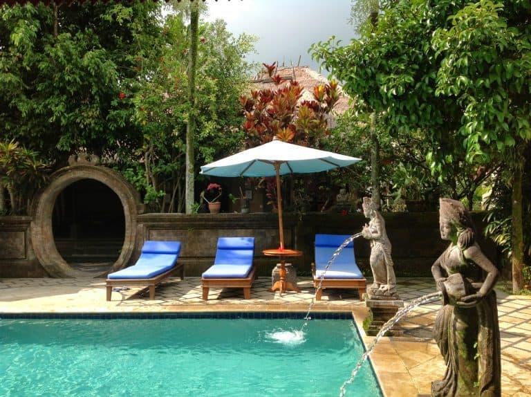 hotel Bali Ubud fontaines